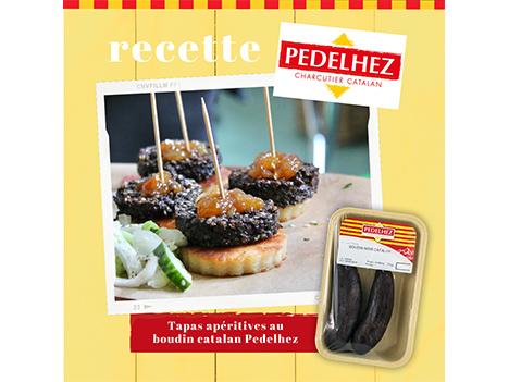 Idée recette : tapas apéritives au boudin catalan Pedelhez